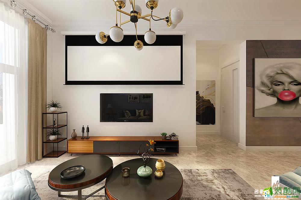 名创国际装饰丨汇智五洲城丨111平丨三室两厅一卫丨简欧风格