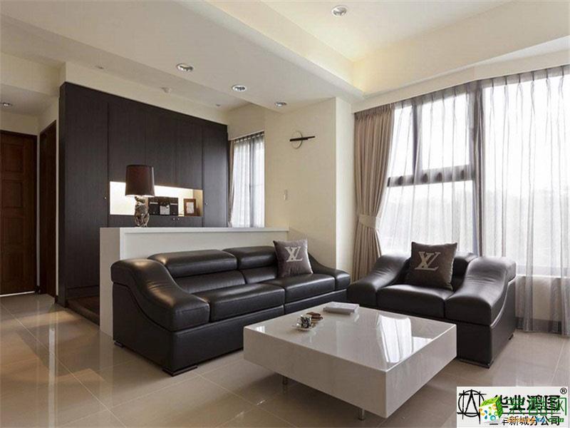 现代简约风格120平米三室两厅装修案例效果图