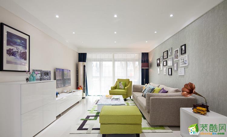 客厅 现代简约风装修效果图-长乐坊小区 110平9万现代简约风装修效果图-长乐坊小区