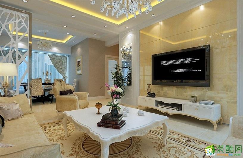 简欧风格180平米四居室装修案例效果图--景光装饰