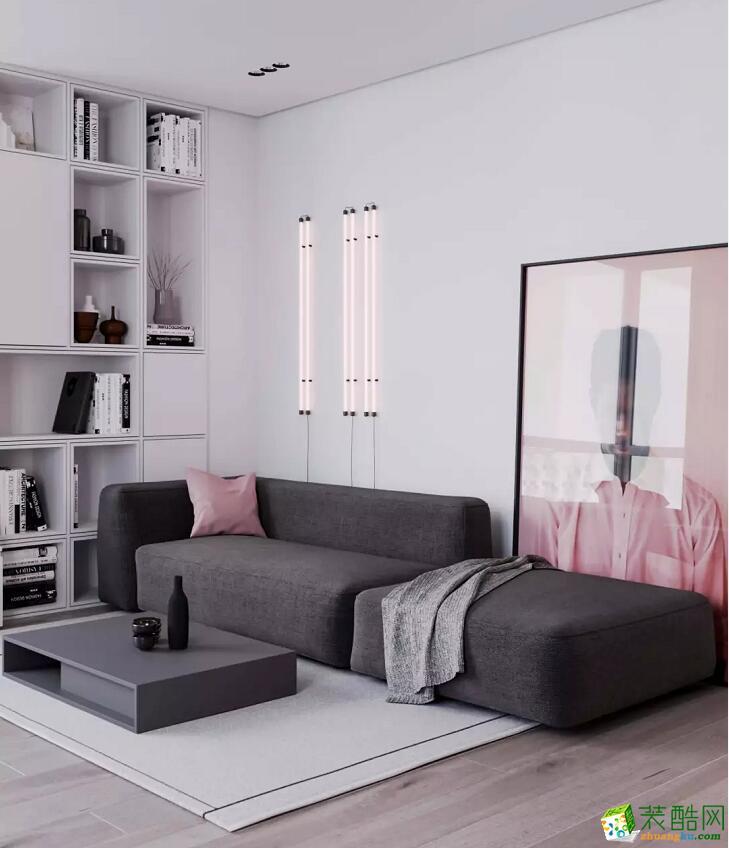 【四顺装饰】75㎡简约风格单身公寓装修效果图