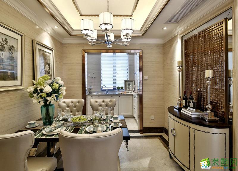 >> 现代美式风格125平米三室两厅装修案例效果图--山顶装饰