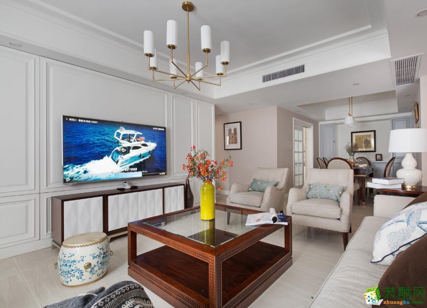 美式风格150平米三室两厅装修案例效果图--唯意装饰