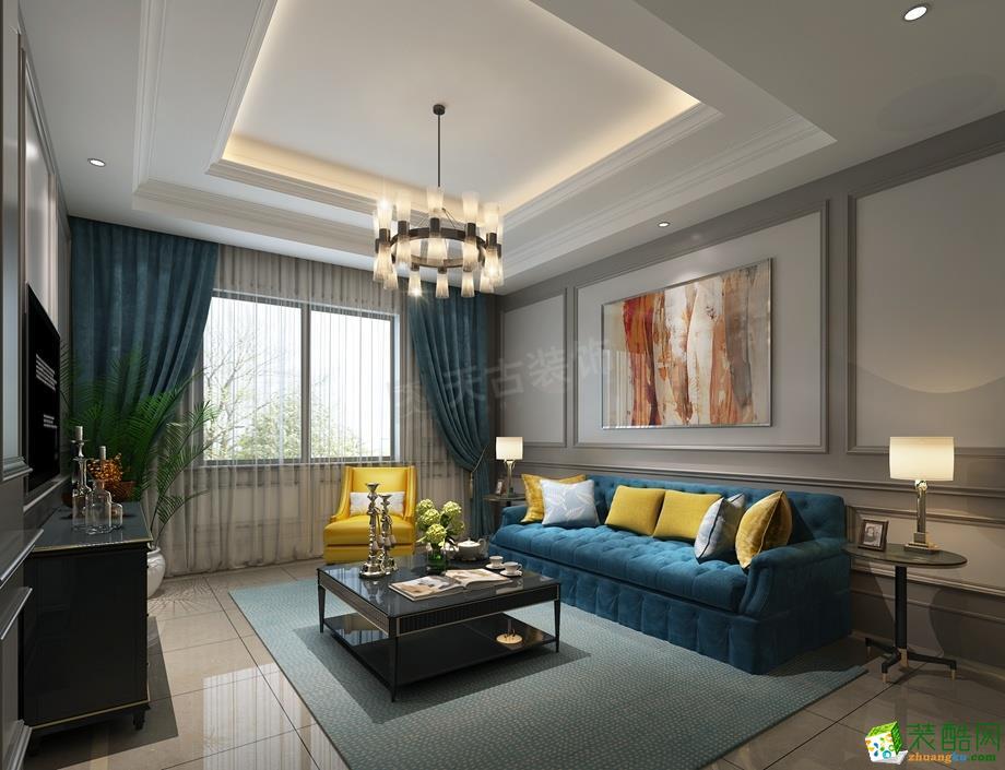 两江新宸紫宸600平米别墅住宅混搭风格装修案例图--天古装饰