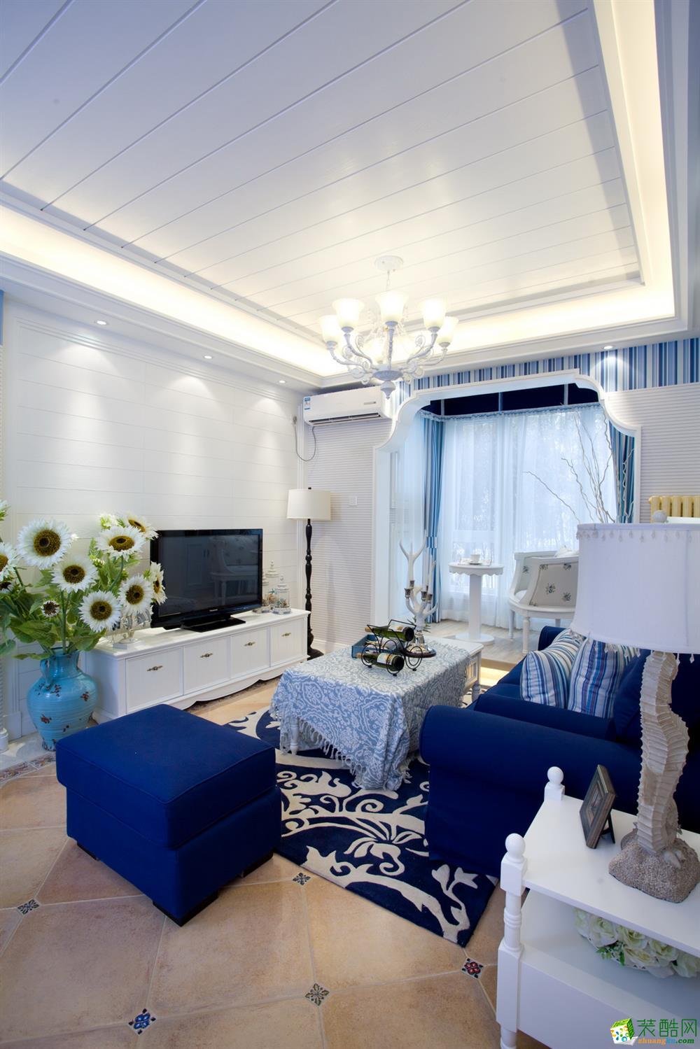 文一名门名城99方两室一厅地中海风格装修效果图