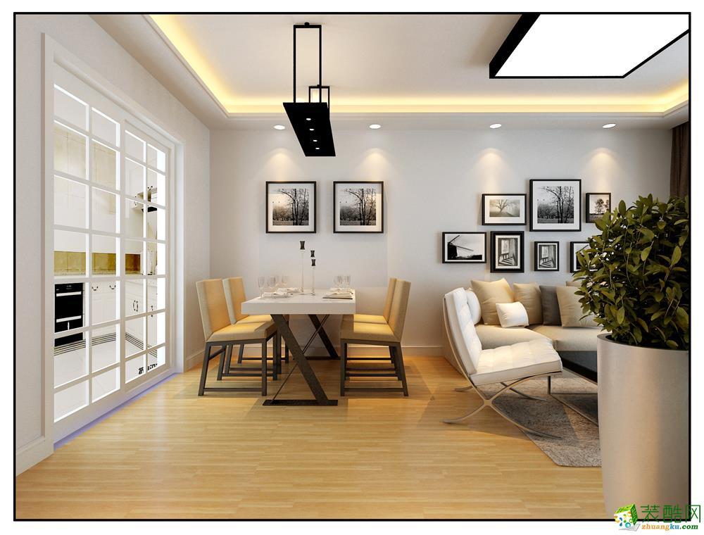 蓝光禹州城89方两室一厅欧式风格装修效果图