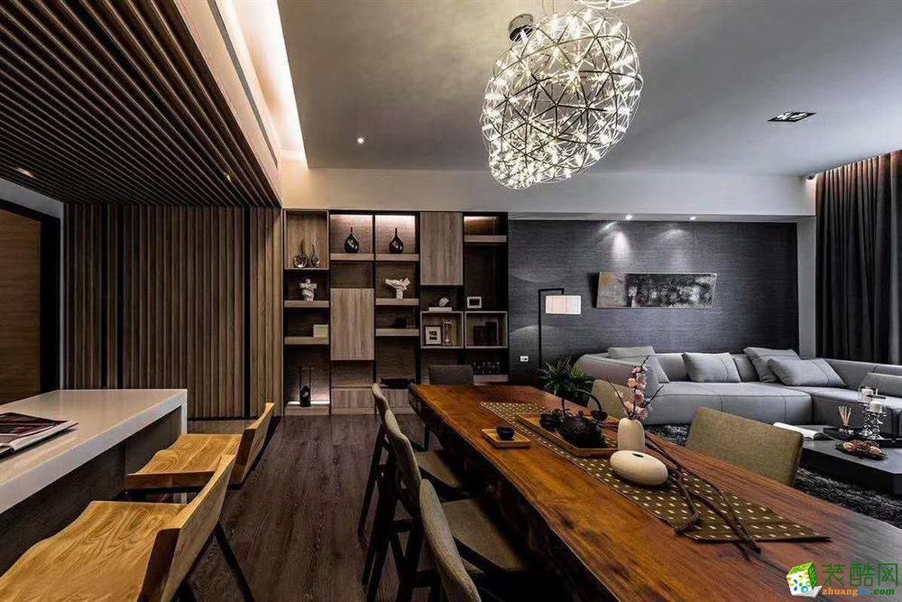 禹州中央广场134方三室两厅工业风装修效果图