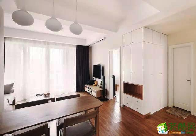 维享家装饰--鲁能领秀城现代风格69平米两居室装修案例效果图赏析。