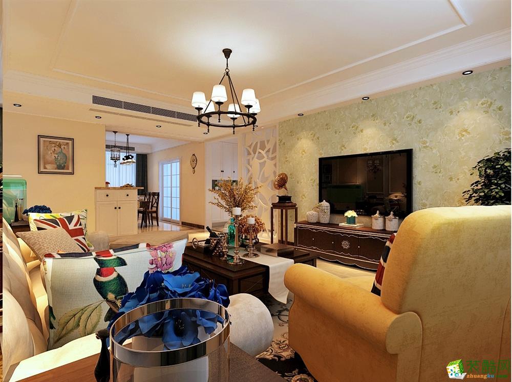 中国城市之星百步亭小区138平方美式风格