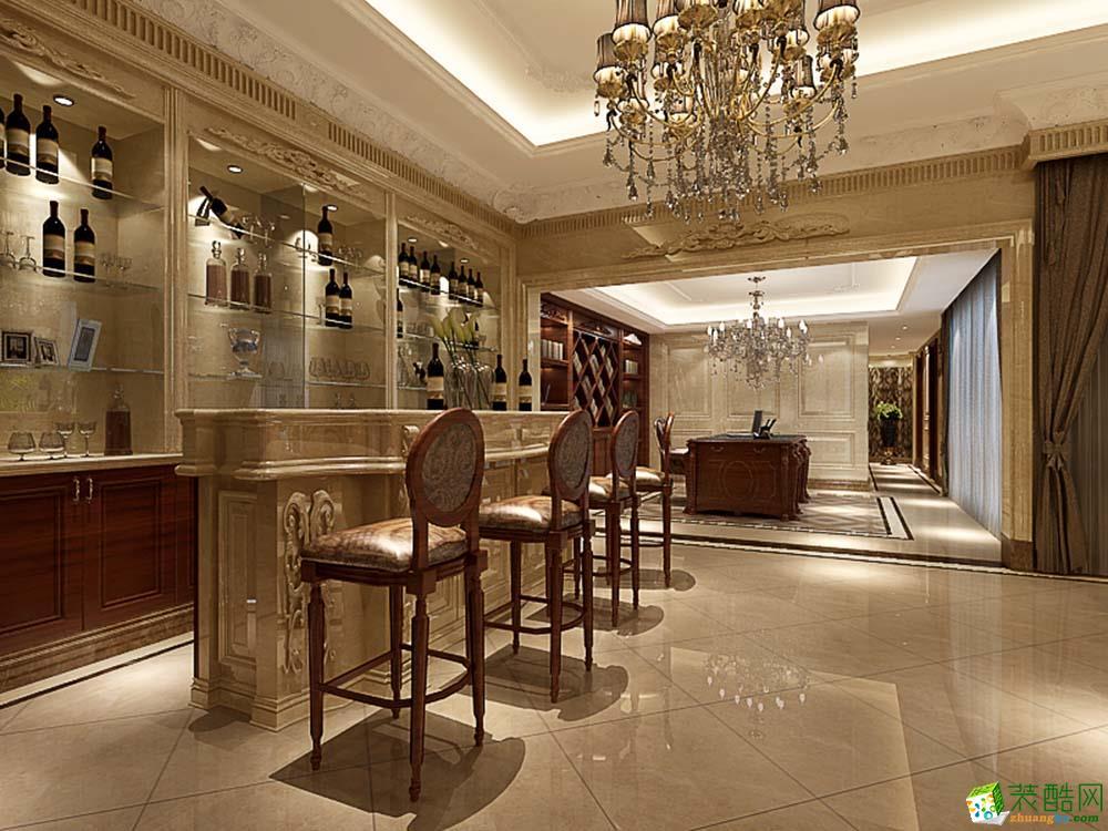 >> 中建大公馆420平别墅欧式古典风格装修案例效果图--腾龙设计