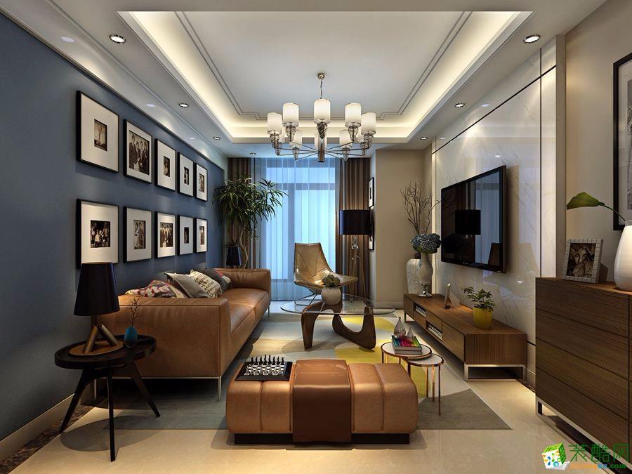 现代简约风格120平米三室两厅装修案例效果图--尚家艺装饰