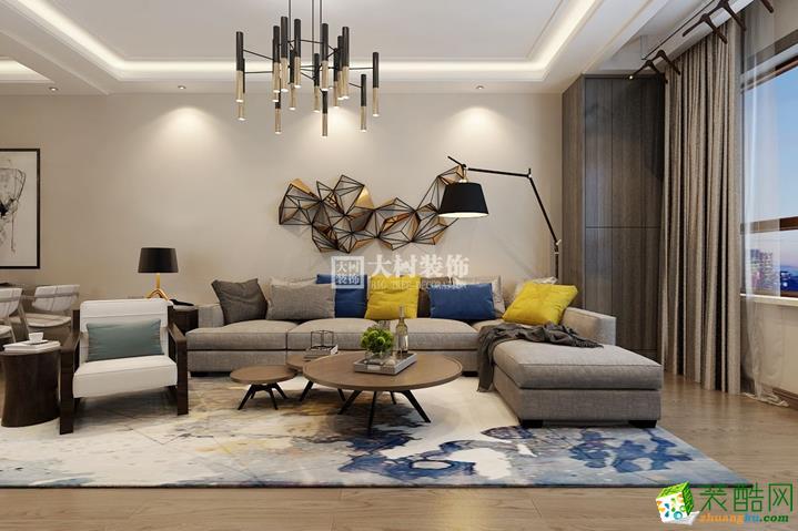 哈尔滨大树装饰工程设计有限公司-三室一厅一卫