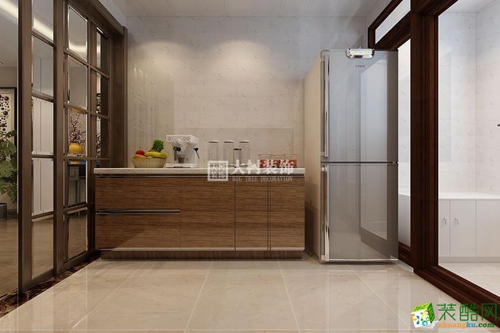 厨房  【大树装饰】鲁商松江新城70�O新中式风格装修效果图