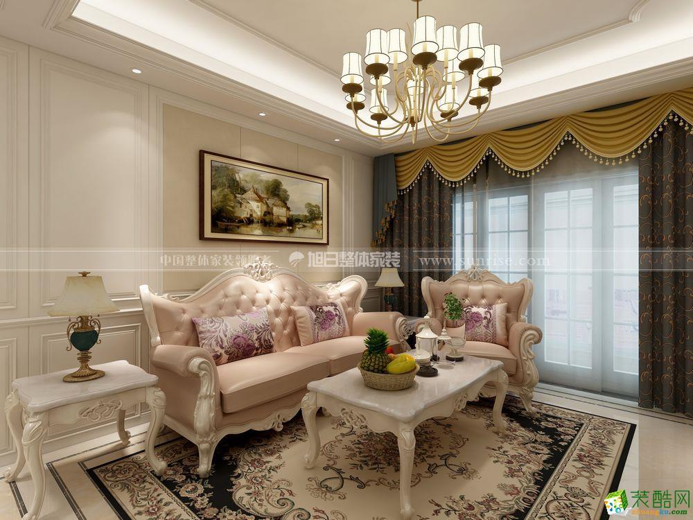 旭日家装―南山柠檬城118方简欧风格三室两厅装修效果图