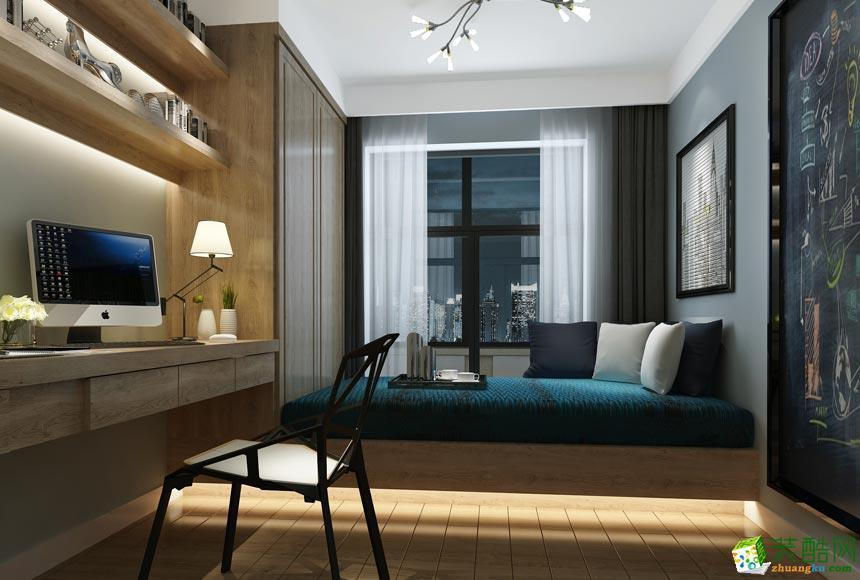 岳阳一创装饰-现代简约110平米三居室装修案例
