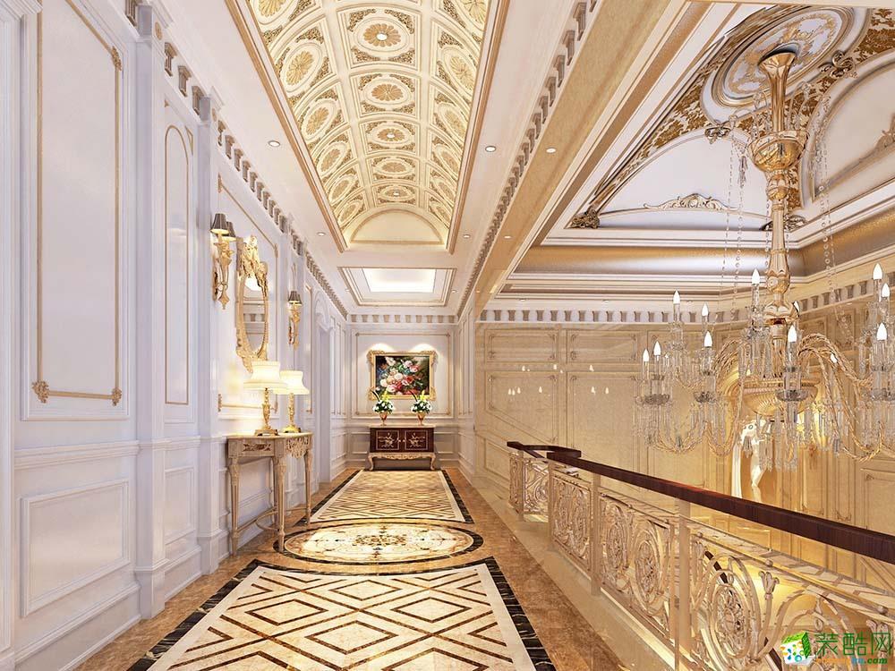 过道吊顶 1200平自建别墅住宅欧式古典风格装修案例效果图赏析--腾龙