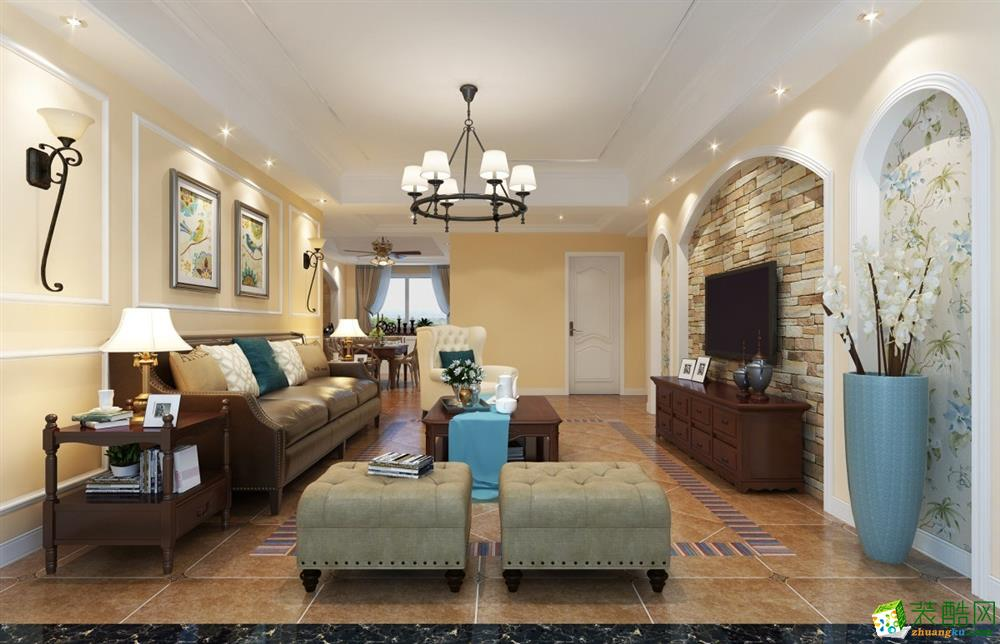 美式风格 三房两厅 | 145.00�O | 15.20万