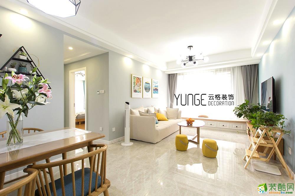 客厅  云格装饰―英特学府92方北欧风格三室一厅装修效果图