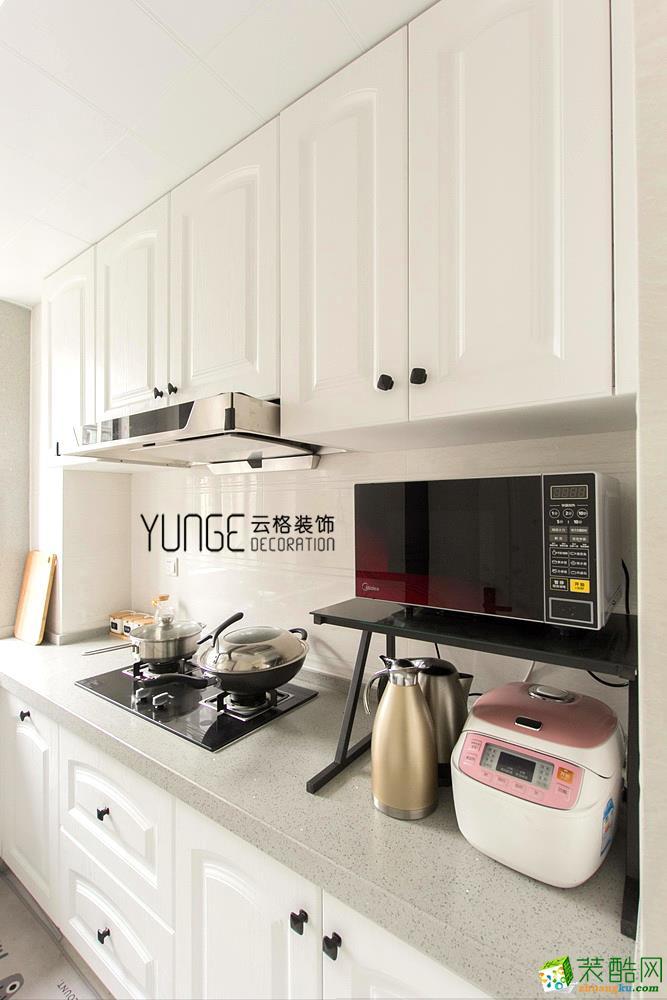 厨房  云格装饰―英特学府92方北欧风格三室一厅装修效果图