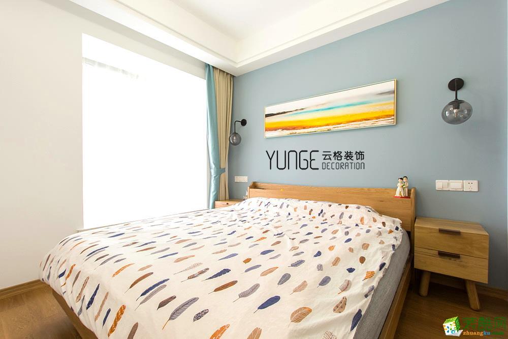 卧室  云格装饰―英特学府92方北欧风格三室一厅装修效果图