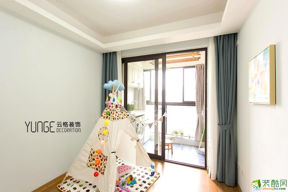 儿童房  云格装饰―英特学府92方北欧风格三室一厅装修效果图