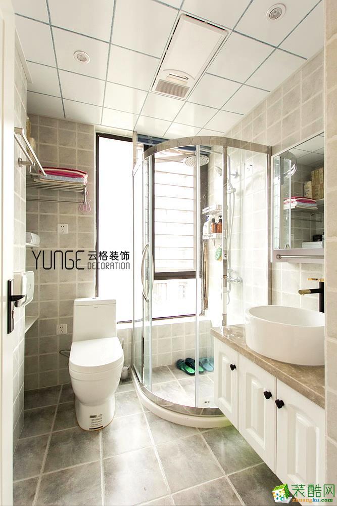 卫浴  云格装饰―英特学府92方北欧风格三室一厅装修效果图