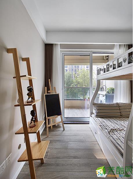儿童房 原木现代简约风格150平米三室两厅装修案例效果图赏析--80印象装饰 原木现代简约风