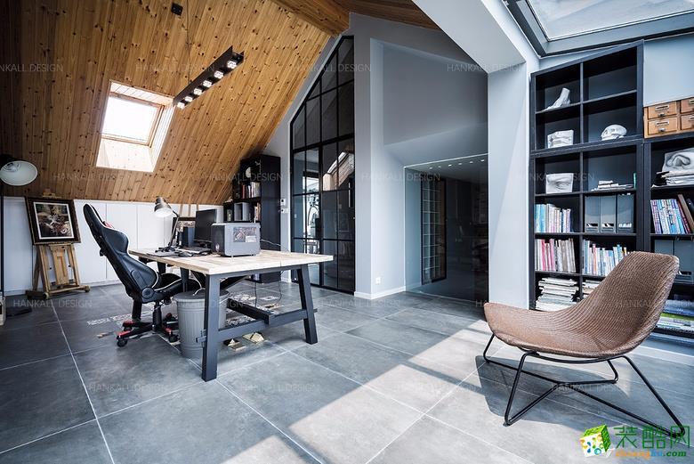 书房  瀚高设计―180平复式混搭风格装修设计效果图