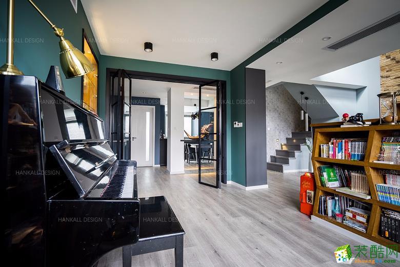 客厅  瀚高设计―180平复式混搭风格装修设计效果图