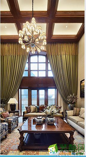 陈萍设计工作室—260方美式风格别墅装修设计效果图