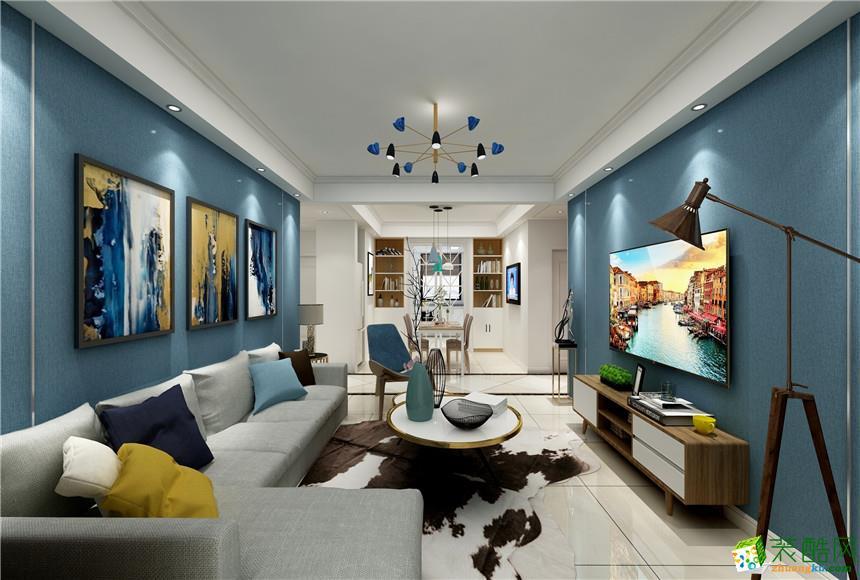 长沙百艺艺术设计-100平米现代简约两居室装修案例