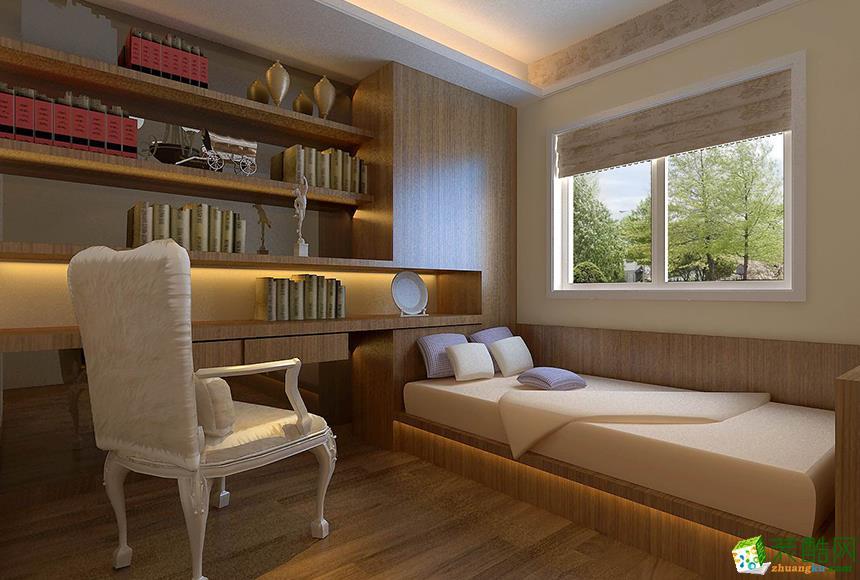 岳阳梦幻装饰-130平米美式三居室装修案例