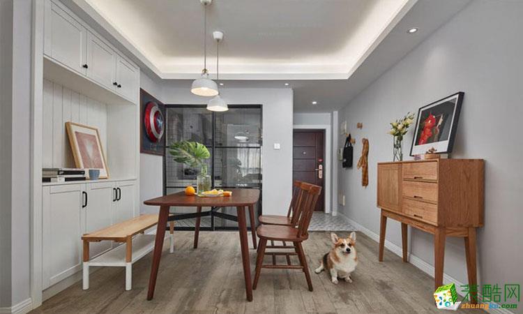 90平米北欧风格三室一厅装修案例效果图--宜家优品装饰