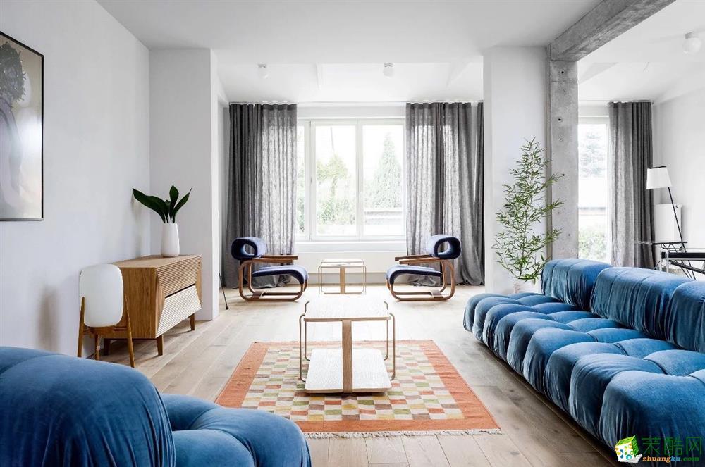 现代风格83平米三室一厅装修案例效果图--聚通装饰
