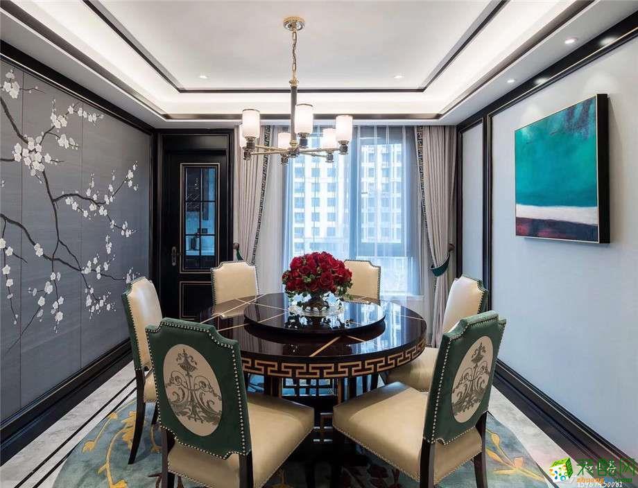 餐厅  一麦设计―金域中央180方新古典风格装修设计效果图