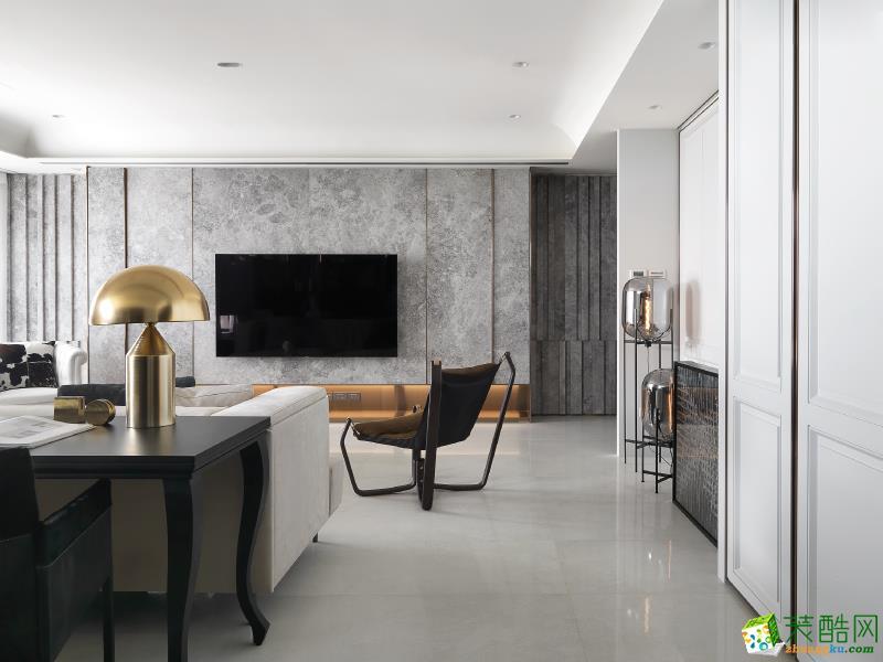 北欧风格92平米两室两厅装修案例效果图--紫苹果设计