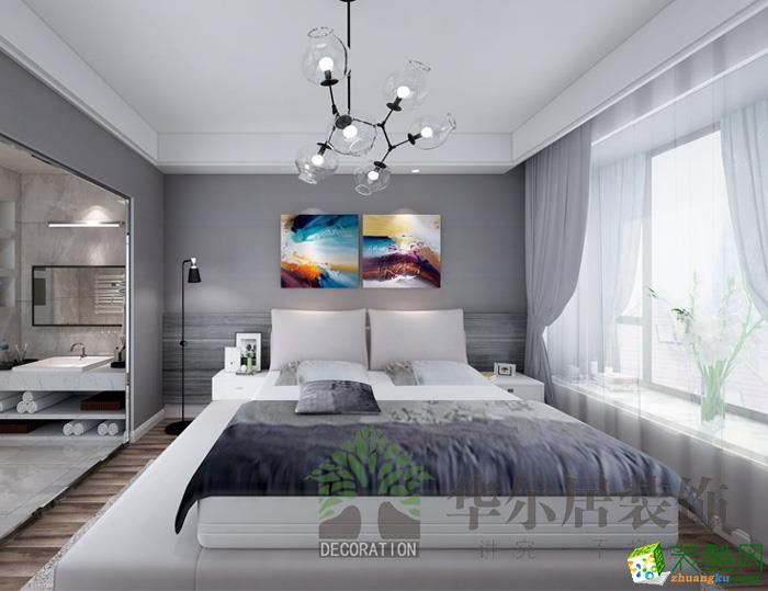 华尔居装饰―南山维拉 现代简约140�O三室两厅装修效果图