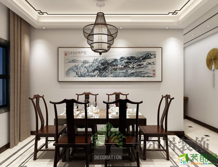 华尔居装饰―茂华中心府 新中式136�O三室两厅装修效果图