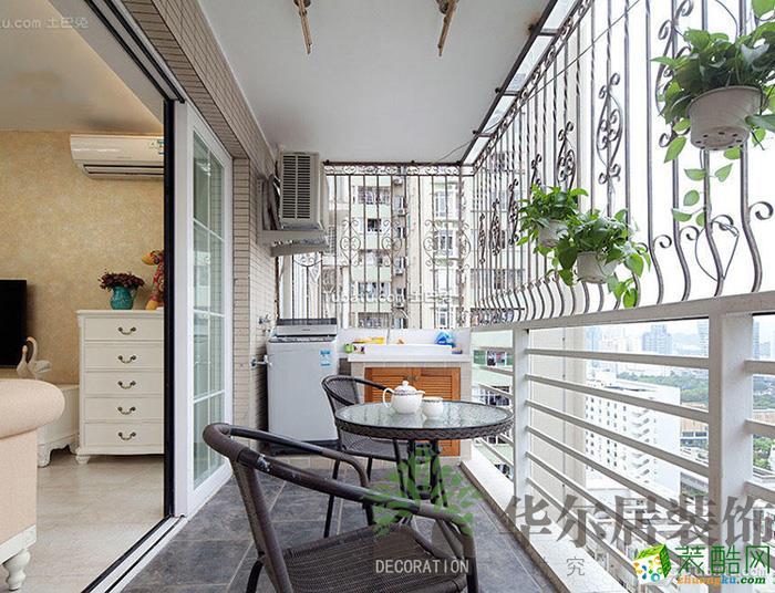 华尔居装饰―102方三室一厅田园风格装修效果图