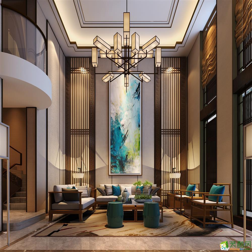 新中式风格360平米别墅住宅装修案例效果图--时光圣典装饰