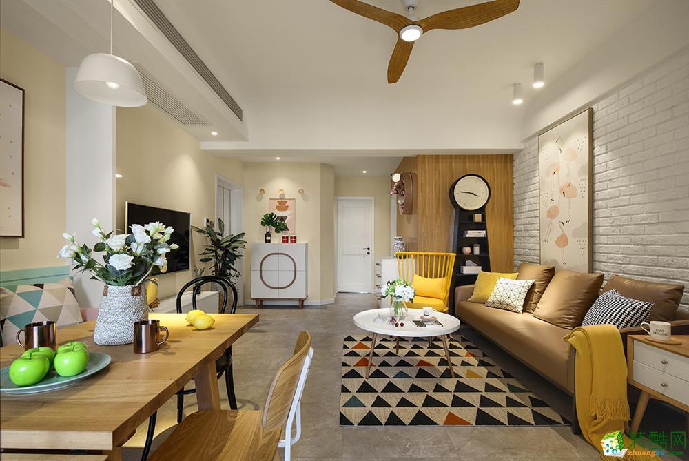 北欧风格116平米三室两厅装修案例效果图赏析--管家宅配装饰