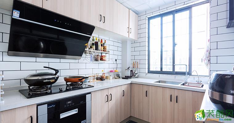 厨房 北欧风格118平米三室两厅装修案例效果图--管家宅配装饰