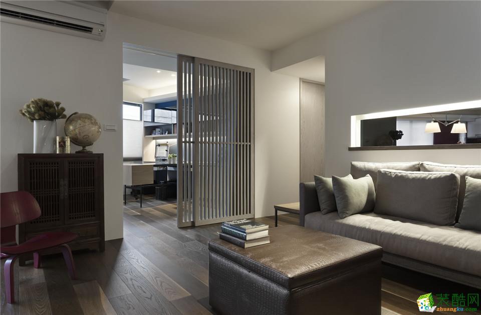 衡阳百盛装饰-80平米现代简约两居室装修案例