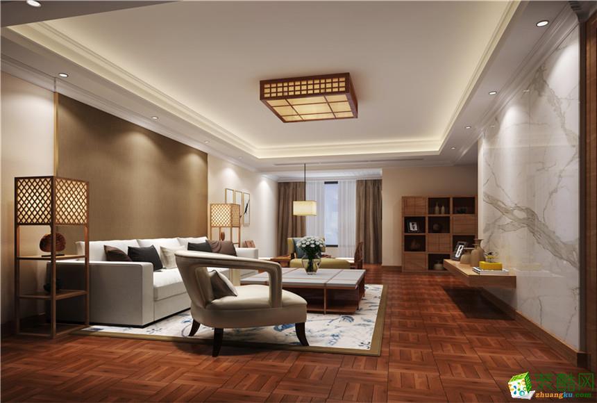 衡阳晟昊装饰-90平米新中式两居室装修案例