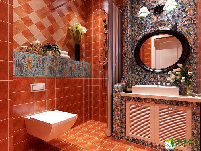 衡阳炫合装饰-85平米地中海两居室装修案例