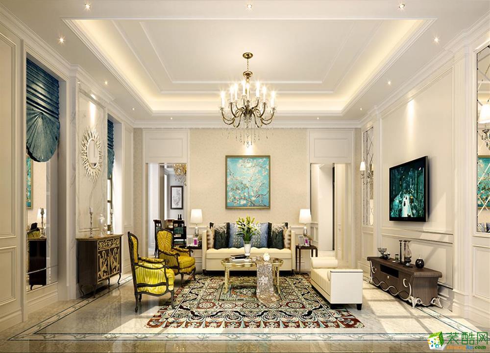 大华诺斐墅独栋别墅项目850平米装修设计案例效果图--腾龙设计