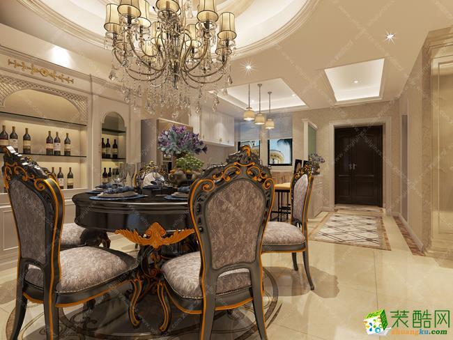 义银别墅装修―圣地雅歌联排210平米欧式别墅设计效果图