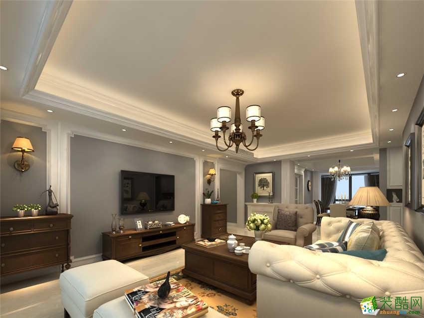 澳华家装―爱佳798美式风格四室两厅162方装修效果图