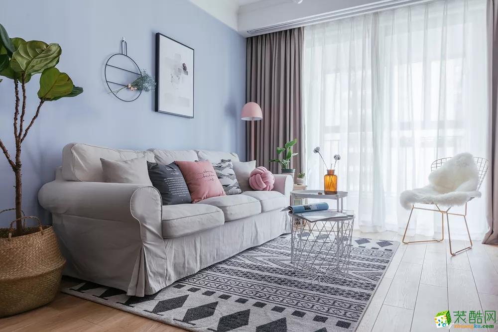 美颂雅庭装饰―88平两室懒人北欧风格装修设计效果图