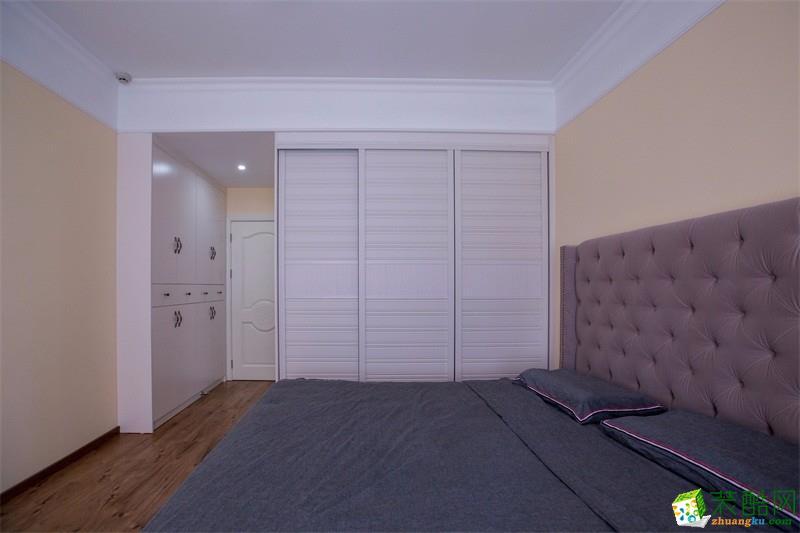 卧室  【百合装饰】120平米美式风格装修案例图